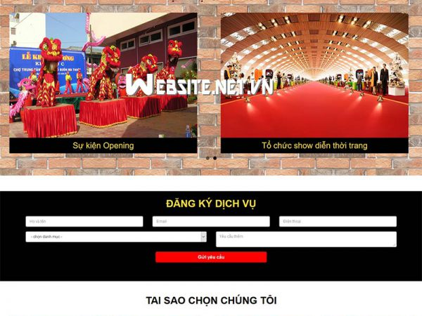 Mẫu website tổ chức sự kiện