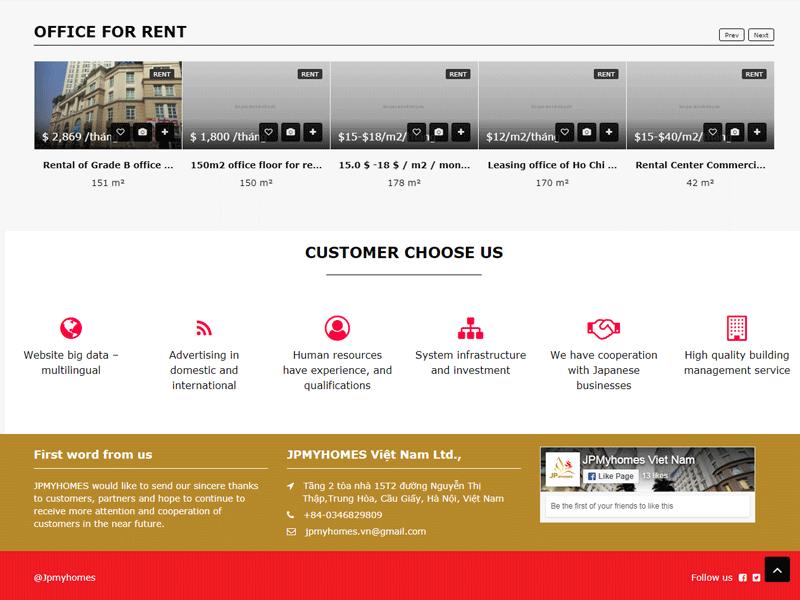 Công ty thiết kế website BĐS đa ngôn ngữ