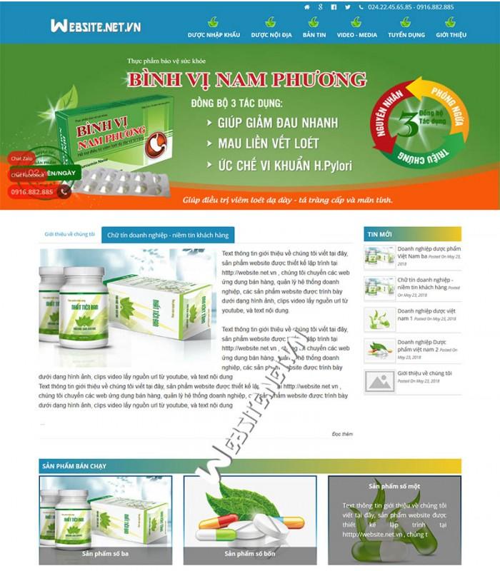 Giao diện website bán dược phẩm, website công ty dược phẩm