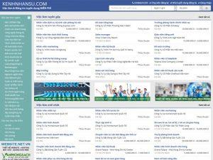 Mẫu website tuyển dụng việc làm