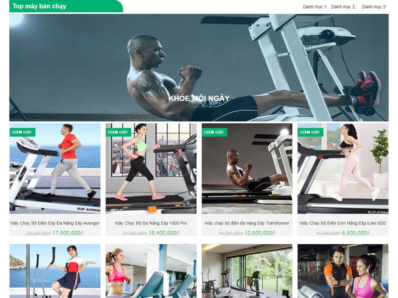 Dịch vụ thiết kế website dịch vụ gym