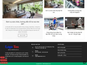 Thiết kế website dịch vụ Gym