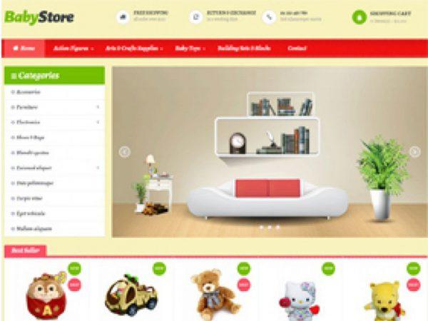Thiết kế website shop đồ cho bé
