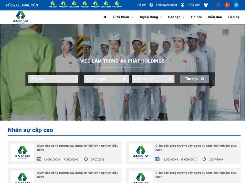 Thiết kế website tuyển dụng việc làm