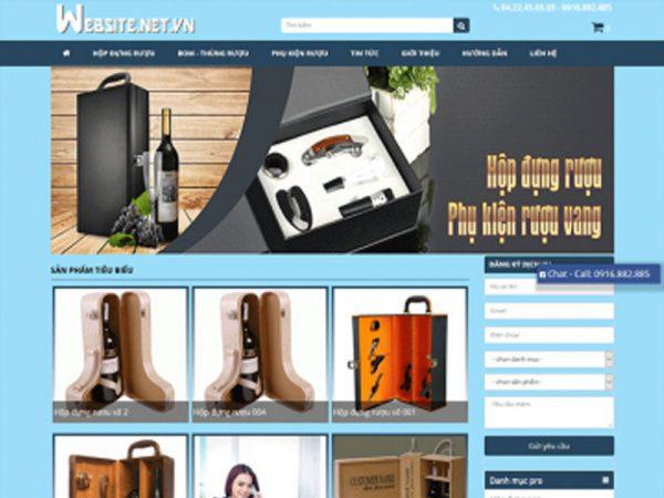 Giao diện website bán hàng online gam màu xanh