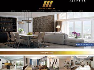 Website thiết kế nội thất, kiến trúc