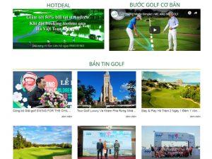 Dịch vụ thiết kế website golf Hà Việt