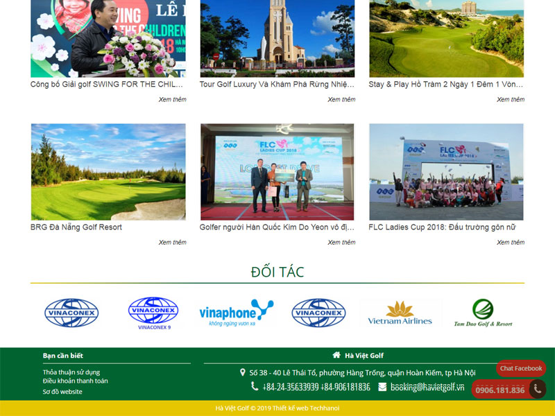 dịch vụ thiết kế website golf