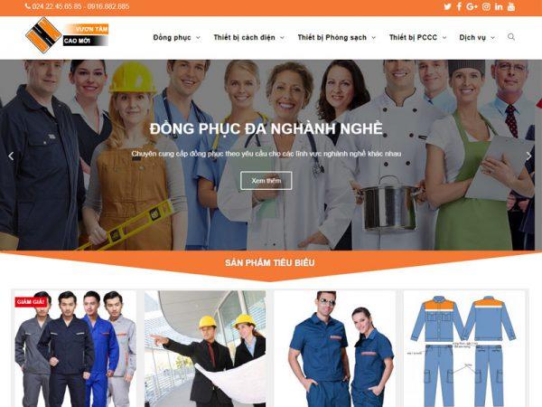 Giao diện website bảo hộ Hoàng Hải Như