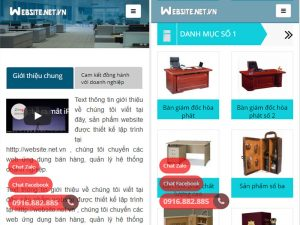 Giao diện website doanh nghiệp