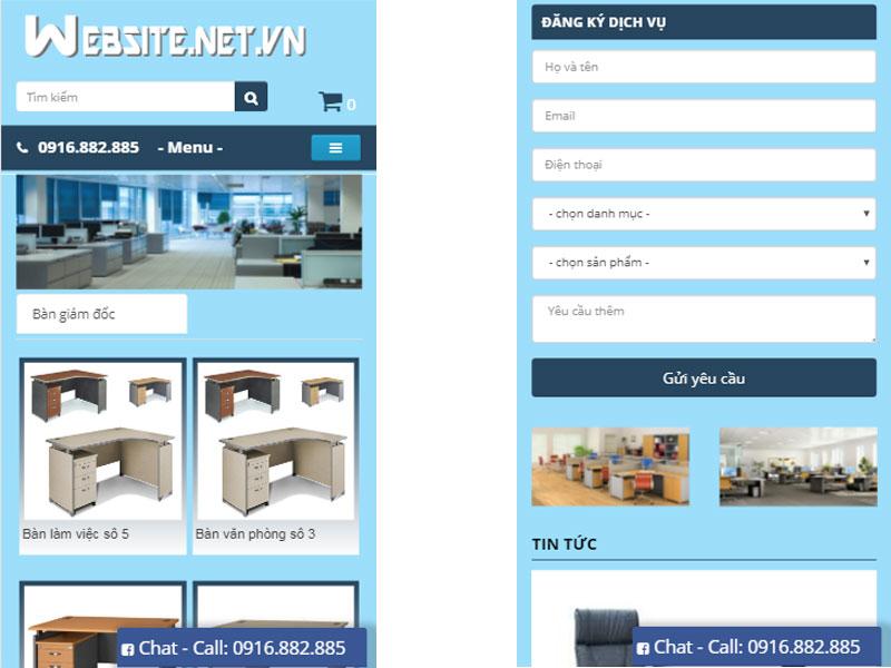 thiết kế website nội thất văn phòng
