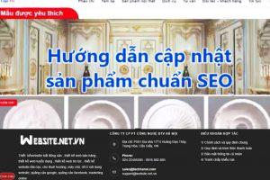 Hướng dẫn cập nhật sản phẩm chuẩn SEO