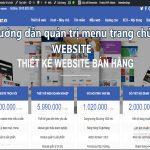 Hướng dẫn quản trị menu trang chủ Website