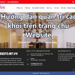 Hướng dẫn quản trị các khối trên trang chủ website