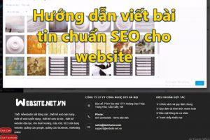Hướng dẫn viết bài tin chuẩn SEO cho website