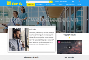 Mẫu website doanh nghiệp 1