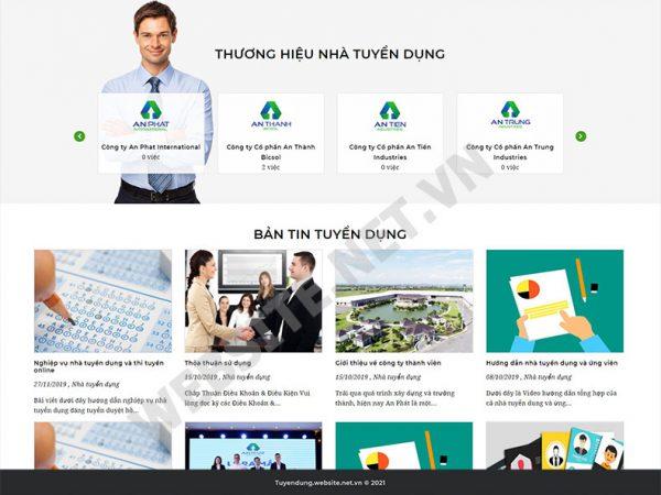 Website tuyển dụng – thi tuyển trực tuyến
